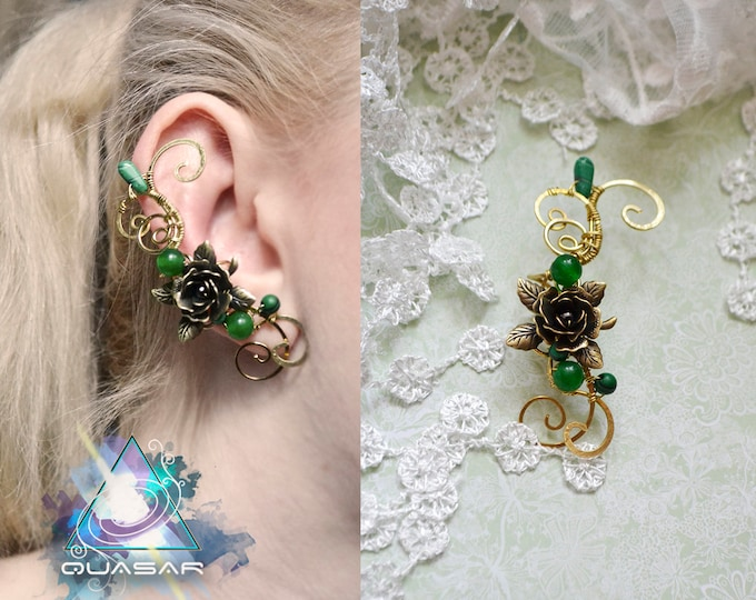 "Ear cuff ""Brass rose"" 