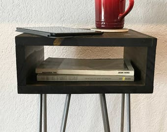 Modern Nightstand, Side Table, Mid Century, End Table, Hairpin Legs, Sofa Table, Corner Table, Square