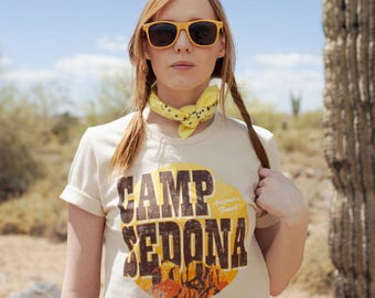 Camp Sedona Tee / arizona t shirt / sedona red rocks / southwest top