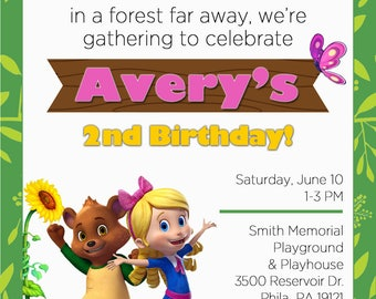 Printable Goldie & Bear Party Invitation