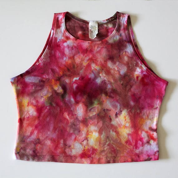 XL Floral High Neck Crop Top
