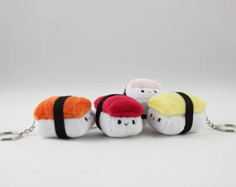 TINY Nigiri Sushi Plush Keychain - Food