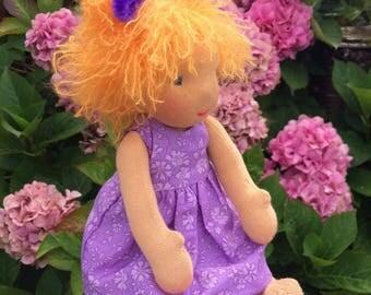 "Isabella a cute little one of 10""/25cm tall. Wadorf doll. Stuffed doll."