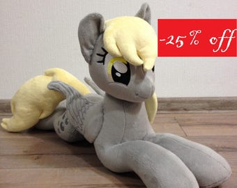 25% OFF - Plushie Derpy (known as Muffins and Ditzy Doo) - 65 cm long