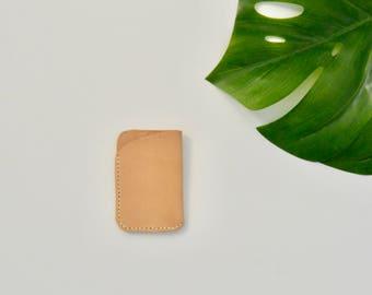 Natural Leather Minimal Card Holder/Wallet