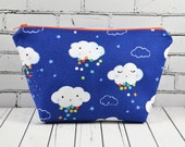 Cute Cloud Zip Pouch, Rainbow Make Up Bag, Kawaii Makeup Bag
