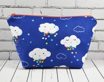 Cute Cloud Zip Pouch, Rainbow Make Up Bag, Kawaii Makeup Bag