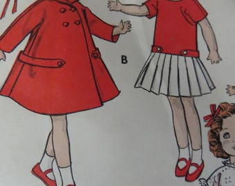 """Vintage 1950's 12"""" Doll Pattern, Butterick 8799, Not Digital, Shirley Temple"""