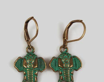 Elephant Earrings Boho Jewelry Tribal Earrings Elephant Jewelry Bohemian Earrings