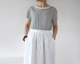 White linen skirt | Etsy