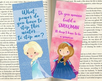 Anna and Elsa Bookmarks