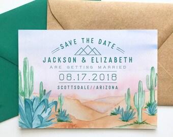 Desert Save the Date - Arizona Sunset