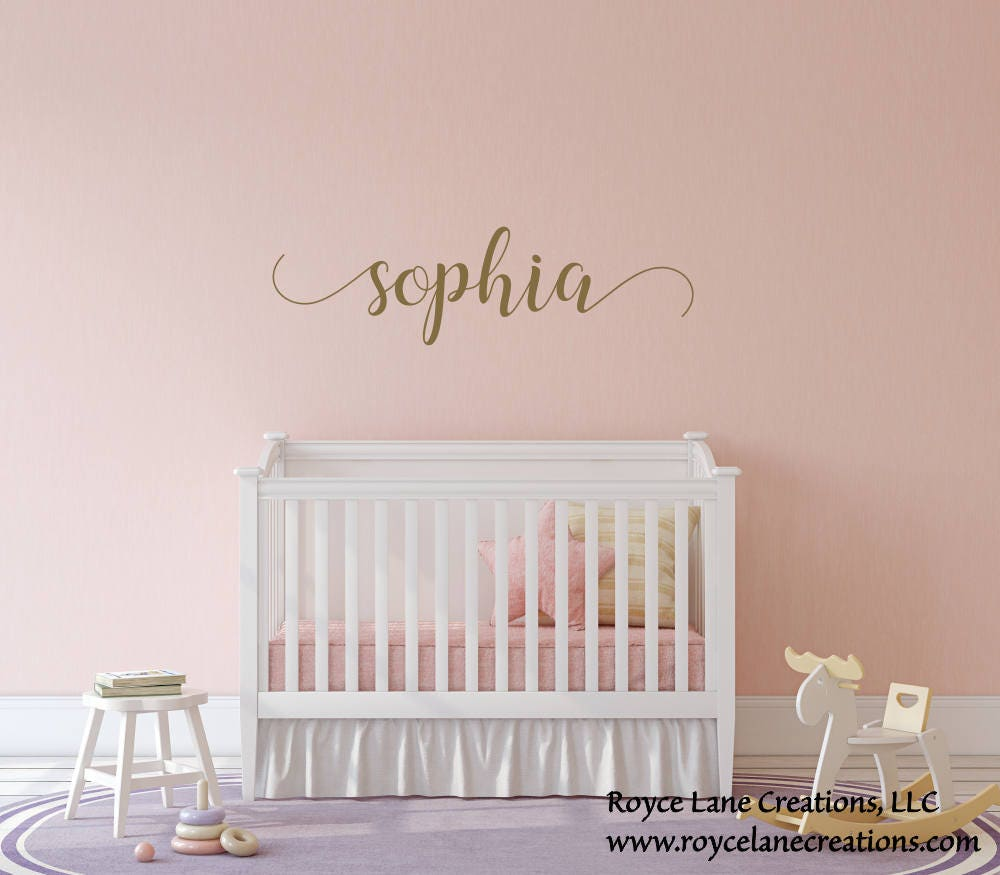 Baby girl name nursery decalgirls nursery decalgold name decal baby girl name nursery decalgirls nursery decalgold name decalgirl nursery decorgirl name wall decalgirl nursery wall decornursery art amipublicfo Choice Image