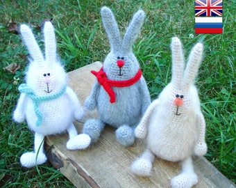 Amigurumi bunny pattern Crochet toy pattern Crochet  pattern animal Toy Bunny DIY crochet Rabbit Doll making  Phil the Cheerful Bunny