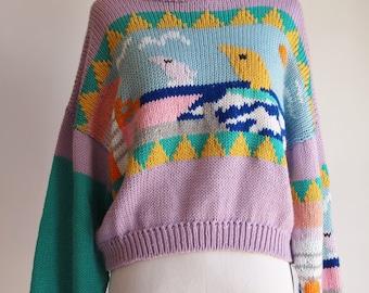 Vintage Sailboat Colorado Sweater