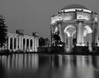 San Francisco Art, Black&White, Photography, Architecture Print, Palace of Fine Arts, Wall Art, Home, Office, Modern Home Decor, Office Art