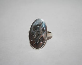 Size 7.5 Vintage Sterling Silver Hopi Ring- Free US shipping