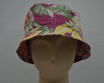 Polo Ralph Lauren Hat Vintage Polo Ralph Lauren Floral Bucket Hat Polo Beach Hat Size S/M