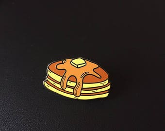 Maple Pancakes Enamel Pin (pancakes enamel pin, food enamel pin, maple pancakes, breakfast enamel pin, bacon enamel pin, breakfast food)