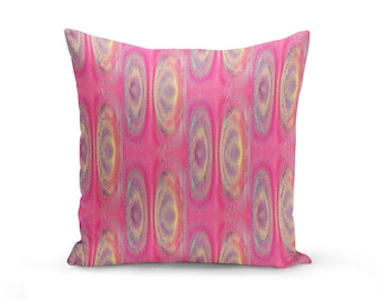 "Abstract Throw Pillow Cover, Pink Purple Yellow, Home Decor, Decorative Pillow Cover, Sofa Pillow Cover, 16"" 18"" 20"" 26"""