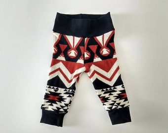 3-6 months sweater leggings, READY TO SHIP, baby leggings, sweater leggings, tribal leggings