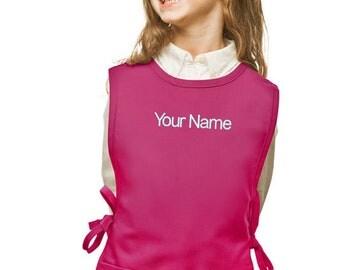Personalized Hot Pink Cobbler Kids Apron