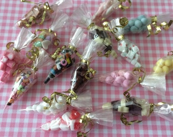 Dolls House Miniature Sweet Cones. Style A - Handmade