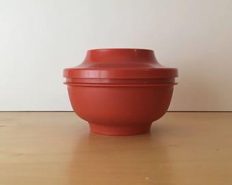 Vintage- Harvest Red Tupperware Storage Pot