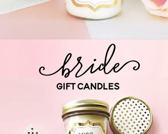 Engagement Gift for Bride to Be Gift Bridal Shower Gift for Bride Miss to Mrs Gift Bride Candle Bride Gift Newly Engaged Gift (EB3178FW)