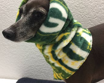 NFL Team Fleece Green Bay Packers Hoodie for Italian Greyhounds - Size Small