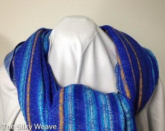 Handwoven shawl, gift ideas, hand-woven scarf,  hand-woven stole, oversize shaw, wedding gift, tri-blend, silk, alpaca, cotton
