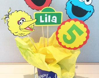 Elmo Centerpiece, Elmo Birthday Party, Sesame Street Party