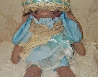 textile doll - textile bunny - doll - easter - rag doll