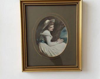 Vintage Print, Portrait of Woman, George Romney