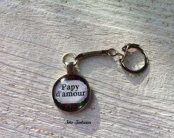 """""""Love Grandpa"""" keychain"""