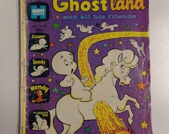 Harvey Comics Casper's Ghostland And All His Friends # 80 September 1974 Vintage Cartoon Comic Book VG-