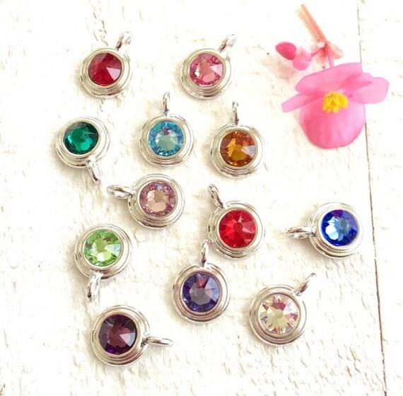 Birthstone Charm, Mala Bead Charm, TierrCast Charm, Tassel Jewelry, Personalize Your Mala Necklace