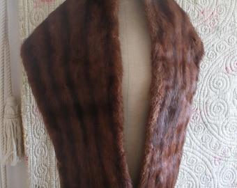 Vintage fur wrap c1950s