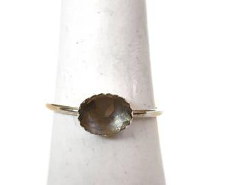 Smokey Quartz Ring - Sterling Silver Ring - Quartz Jewelry - Crystal Stone Ring