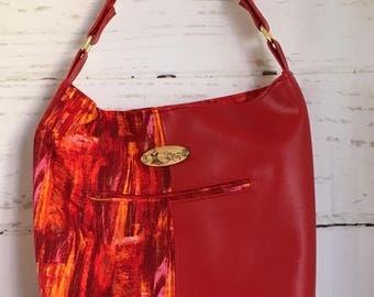 Wild Red Bucket Bag