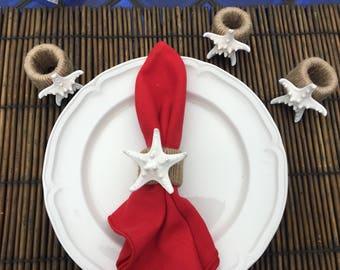 Starfish Napkin Rings (set of 4)