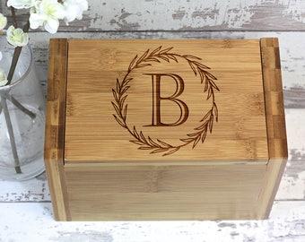 Personalized Recipe Box - Custom Engraved Recipe Box