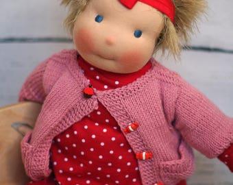 Waldorf Doll Annie (17 in. /45 cm.) original handmade Waldorf Steiner doll with clothes for girls - best gift for girls