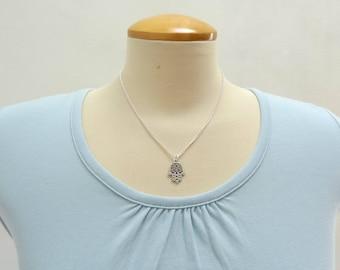 Silver Hamsa Hand Necklace - Ready to Ship