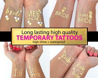 Bachelorette tattoos Bachelorette party tattoo gold tattoos Bride tattoo Bachelorette party Hen party tattoos temporary tattoos