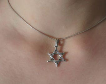Star of david Necklace, Jewish star necklace, Magen david necklace, Silver jewish star, Silver Pendant, Jewish jewelry, Silver Necklace