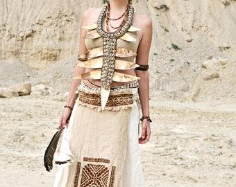 Tribal Panelskirt Blockprint by GayatriTribalCrafts