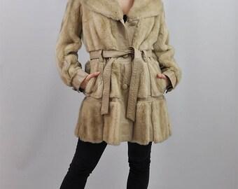 Vintage 70's Faux Fur & Leather Coat