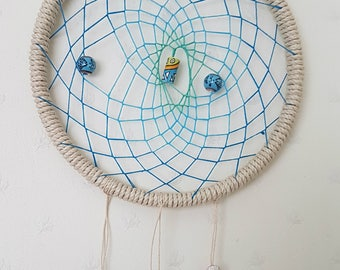 Large Nautical Hemp Dream-Catcher