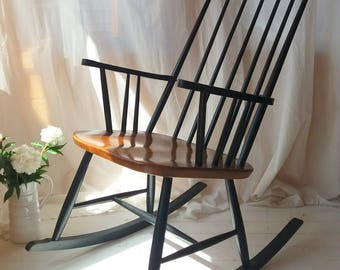 Rocking chair by Austrian Architect and Designer, Roland Rainer 1950s, lovely vintage condition